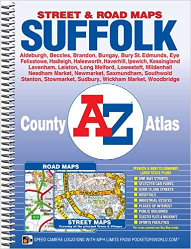 Map Of Uk 800 Ad.Suffolk County Atlas A Z County Atlas Amazon Co Uk Geographers