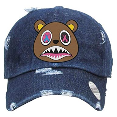 ca489d90143 Baws Crazy Strapback Hat (Dark Denim