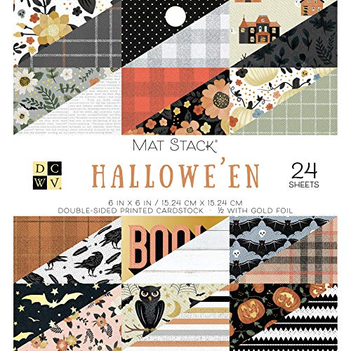 DCWV 615627 Hallowe'en Cardstock, Multi -