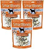 (3 Pack) SmartBones Vegetable and Chicken Mini Bones with Real Sweet Potato (16 Mini Bones Per Pack / 48 Bones Total)