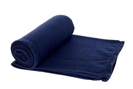 Goyal's Single Bed Fleece Blanket, 58x88-inches, Blue