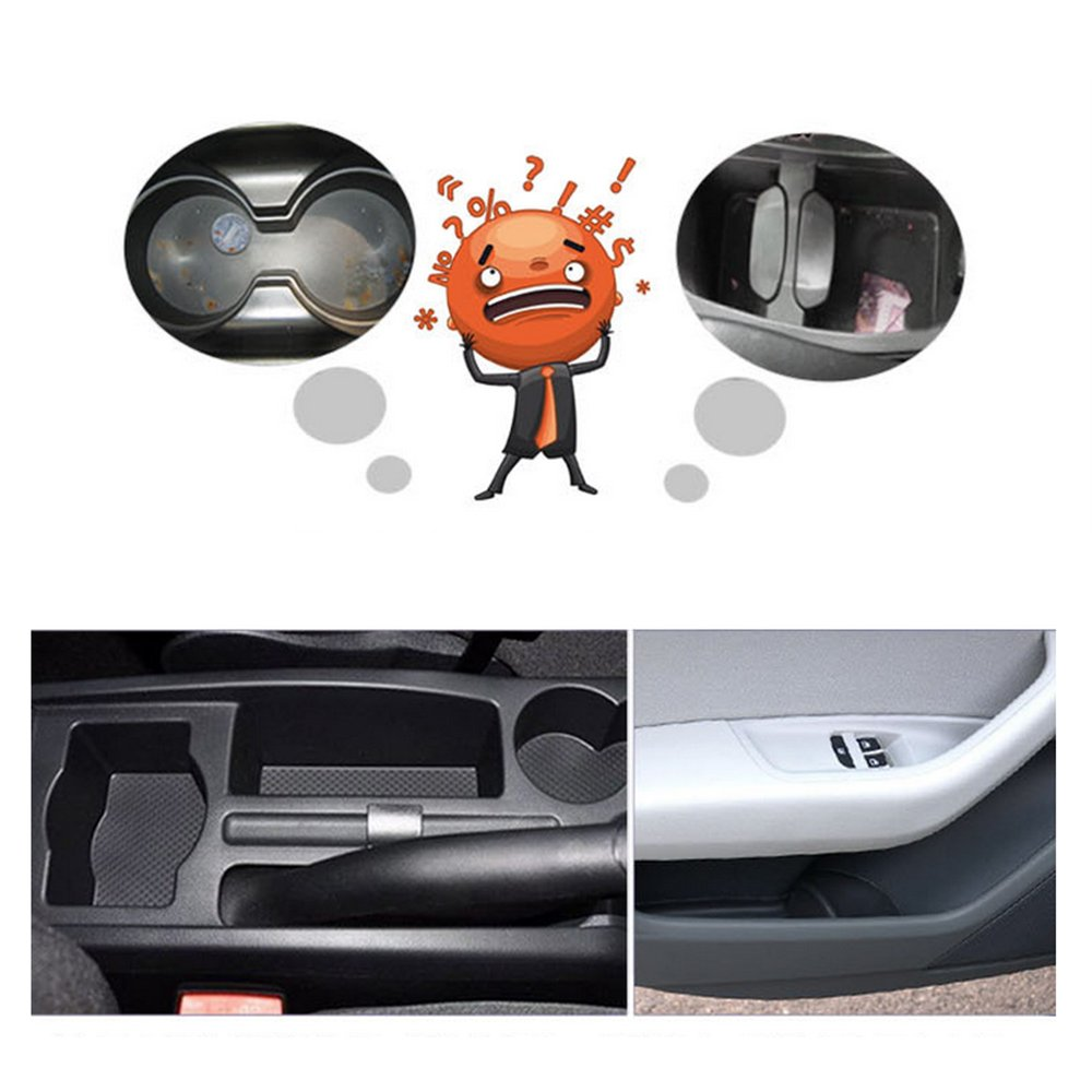 Custom Fit Cup Holder and Door Liner Accessories fits for Subaru Outback 2010 To 2014 12pcs