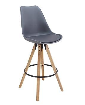 kayelles tabouret de bar scandinave cleo chaise de bar design pitement en chne gris - Chaise De Bar Design