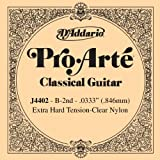 D\'Addario J4402 Pro-Arte Nylon Classical Guitar Single String, Extra-Hard Tension, Second String