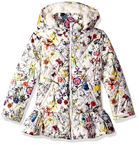 Urban Republic Big Girls Puffer Poly Polyfill Jacket, Ivory, 14