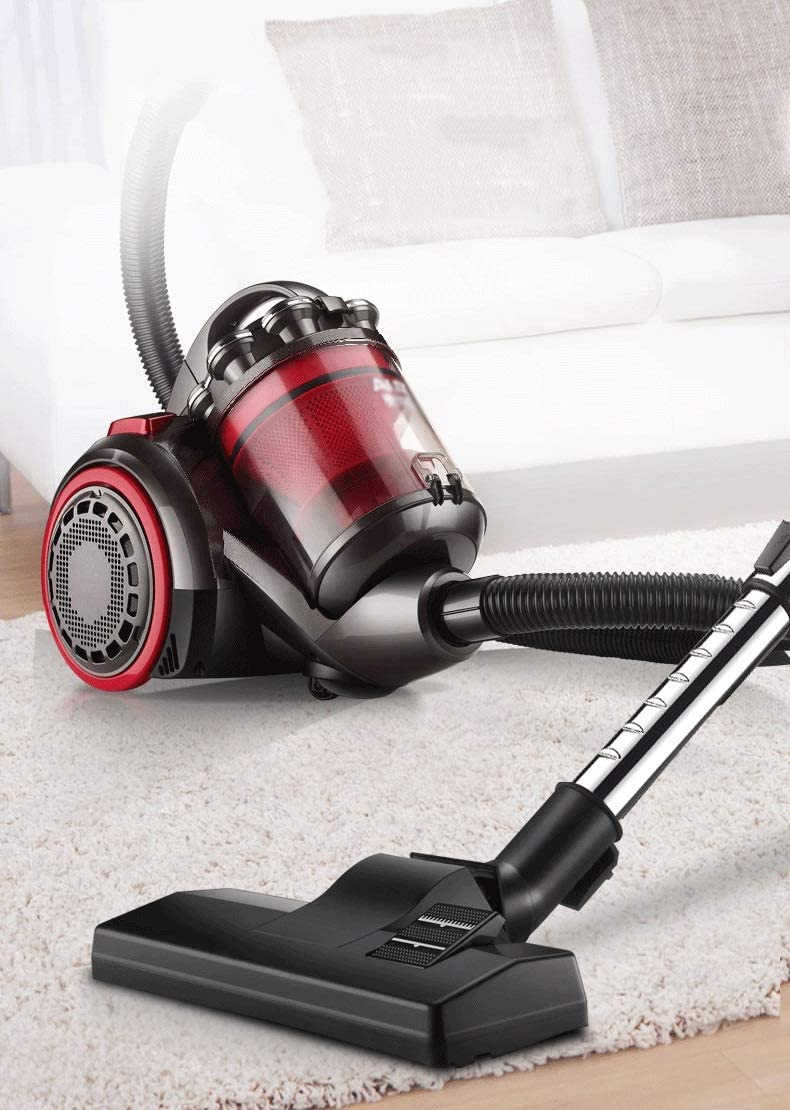 LAZ SA2620R Heavy Duty Canister Vacuum Cleaner High Suction,Corded Bagless Dry Wet 1400 W Cyclone Vacuum with HEPA Filtration and Floor//Sofa