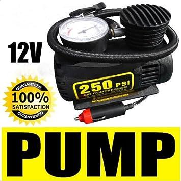 Nueva port til 12 V 250PSI coche compresor de aire bomba el ctrica inflador de neum ticos auto: Amazon.es: Electrónica