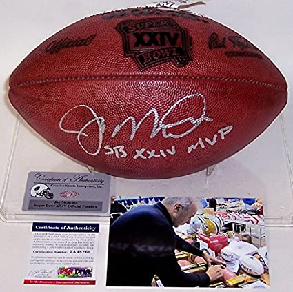 Image Unavailable. Image not available for. Color  Joe Montana Autographed  Hand Signed Super Bowl 24 ... 80a3b5f88