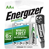 Energizer AA Rechargeable Batteries, Recharge Extreme Batteries, Pack of 4