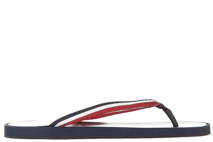 Moncler Herren Flip Flops Zehentrenner Sandalen blu