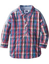 (2.5折) $10.44 李维斯 Levi's 女孩 时尚 格子衬衫 Dakota Dolman Classic Popover