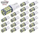 #6: Aucan 20pcs Super Bright RV Trailer T10 921 194 42-SMD 12V Car Backup Reverse LED Lights Bulbs Light Width Lamp Xenon White