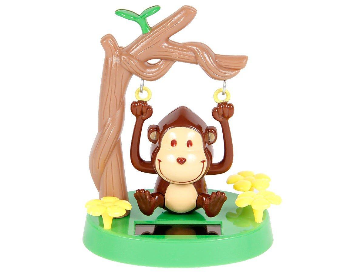 Figurine singe (57/9748) se balance à l'énergie solaire type Nohohon balancier deco voiture maison terrasse jardin cadeau décoratif flip swin original pour enfant fille garcon adulte homme femme Alsino