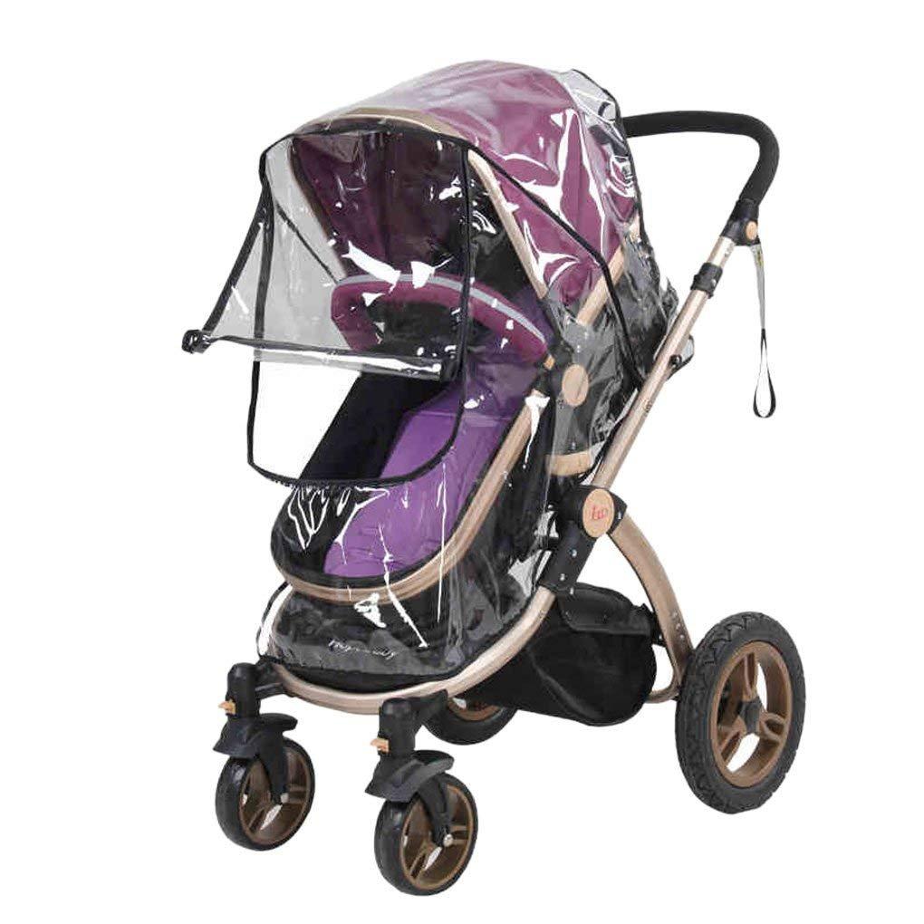 Cochecito de bebé universal para cochecito de bebé, cubierta de lluvia transparente, resistente al agua, paraguas para cochecito de bebé DWH FOREVER