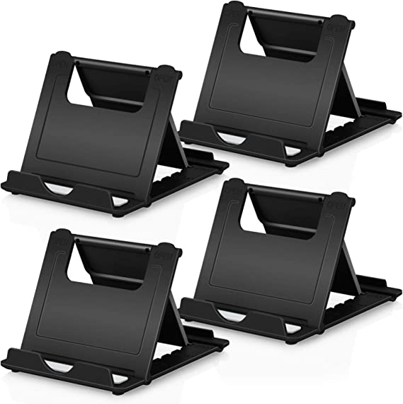 Cell Phone Stand 2Pack Cellphone Holder for Desk Lightweight Portable Foldable Tablet Stands Desktop Dock Cradle for iPhone Android Smartphone iPad Office Supplies Pop Accessories Gray Silver