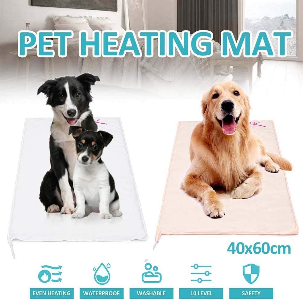 Auto Temperature Control Waterproof Indoor Animal Bed Warmer House Heater Heated Floor Mat Soft Cover NICARE Pet Heating Pad for Cats Dogs Met Safety Listed