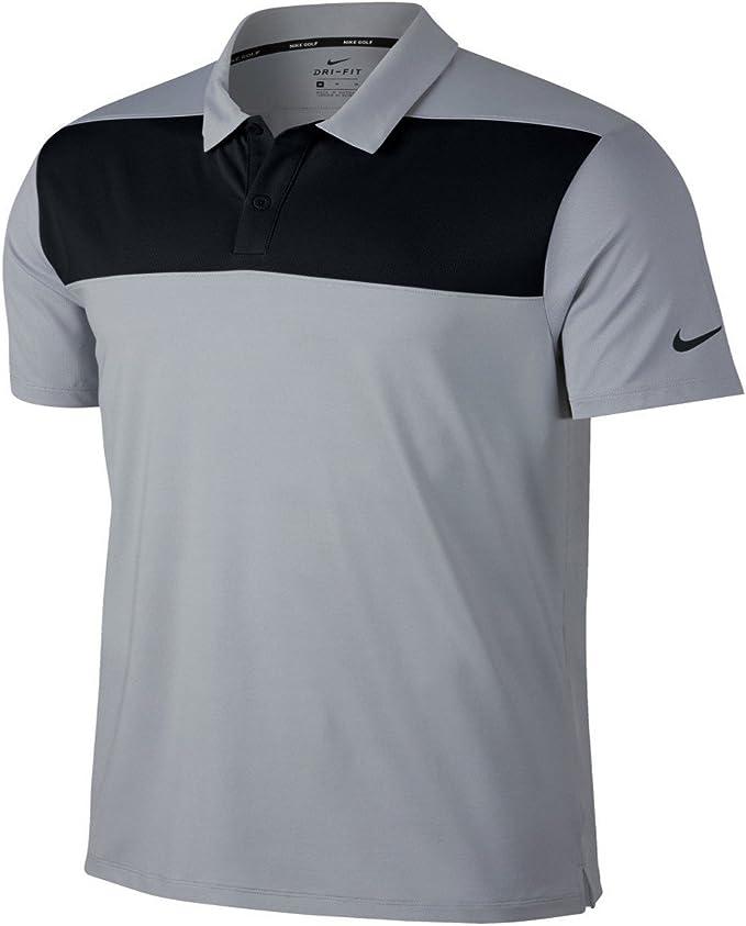 Nike - Polo Modelo Colourblock para Hombre (L/Negro/Gris Oscuro ...