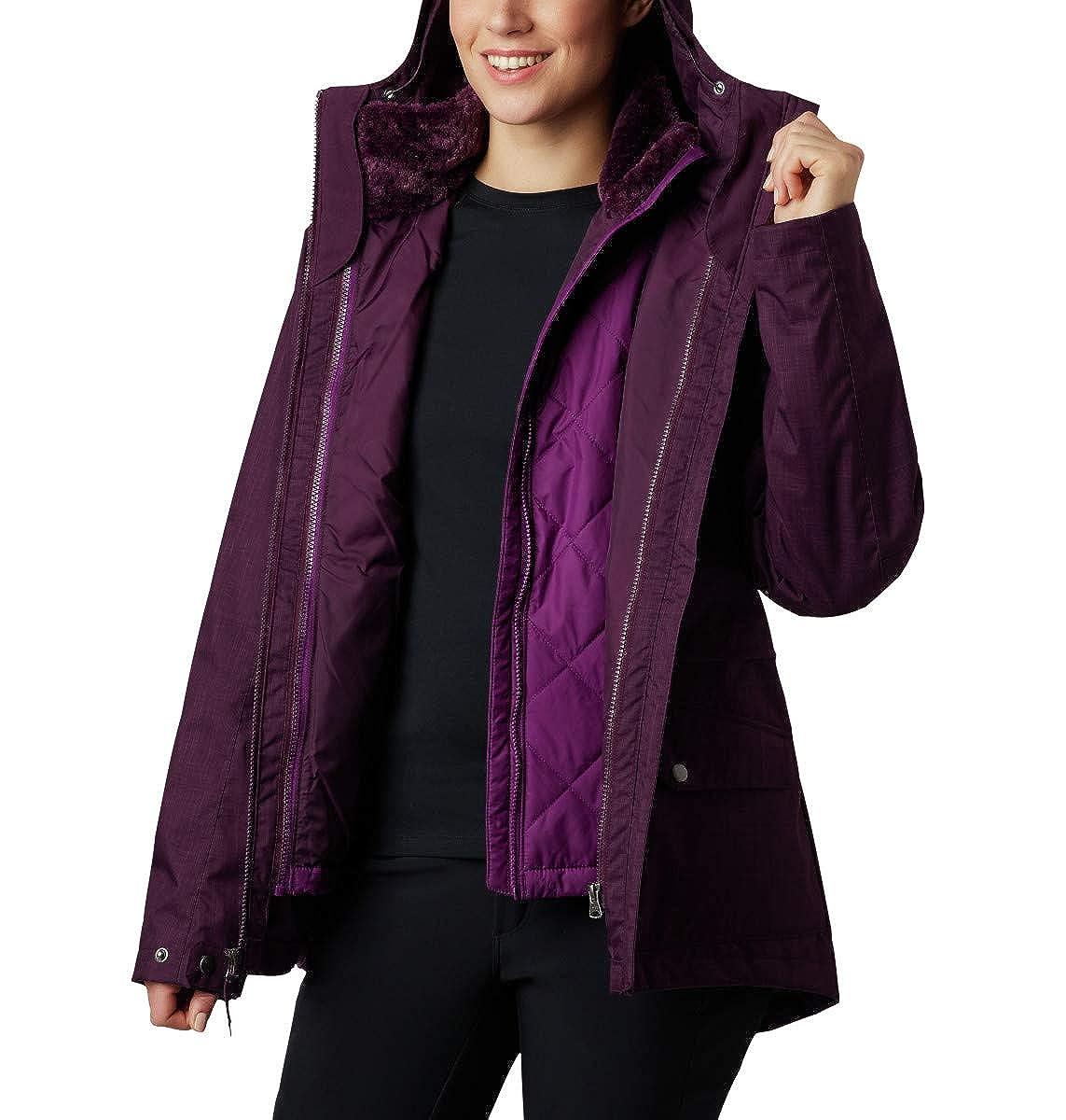 Waterproof /& Breathable Columbia Women/'s Mount Erie Interchange Winter Jacket