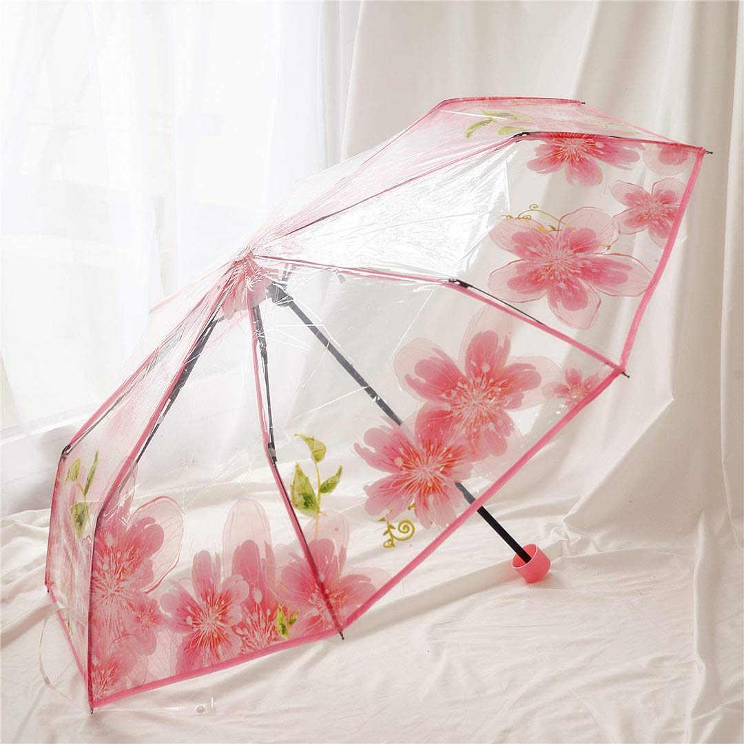 MEIDI Home Paraguas Verano Dulce Viento Rosa Sakura Flor ...