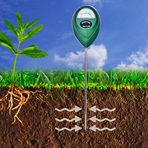 XLUX T10 Soil Moisture Sensor Meter - Soil Water Monitor, Hydrometer for Gardening, Farming, No Batteries Required - Soil Moisture Tester