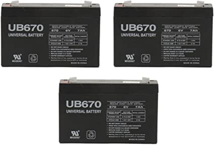 10 Pack 6V 7Ah G670 GP672 ES7-6 LC-R067R2P PS-670 Battery