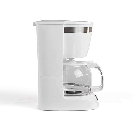 Cafetera blanca con jarra de cristal para 12 tazas, función de ...