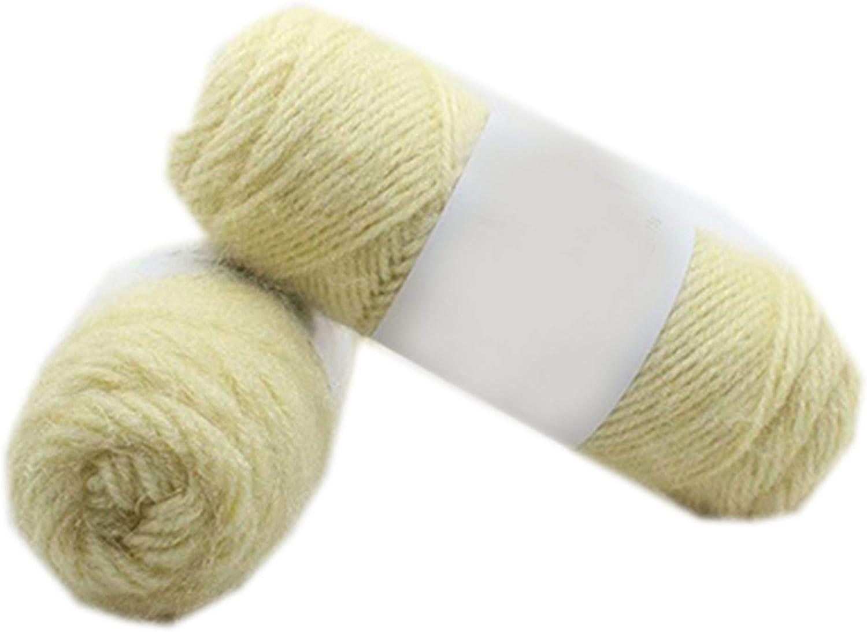 3 piezas de suave hilo de visón de felpa largo para tejer a mano ...