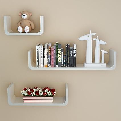 Remarkable Komost Wood Floating Shelves 3 Set Wall Mounted Display Download Free Architecture Designs Parabritishbridgeorg