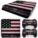 CSBC Skins Sony PS4 Slim Design Foils Faceplate Set - USA 2 Design