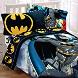 Batman Full Bedding Set Rooftop Superhero Comforter Sheets