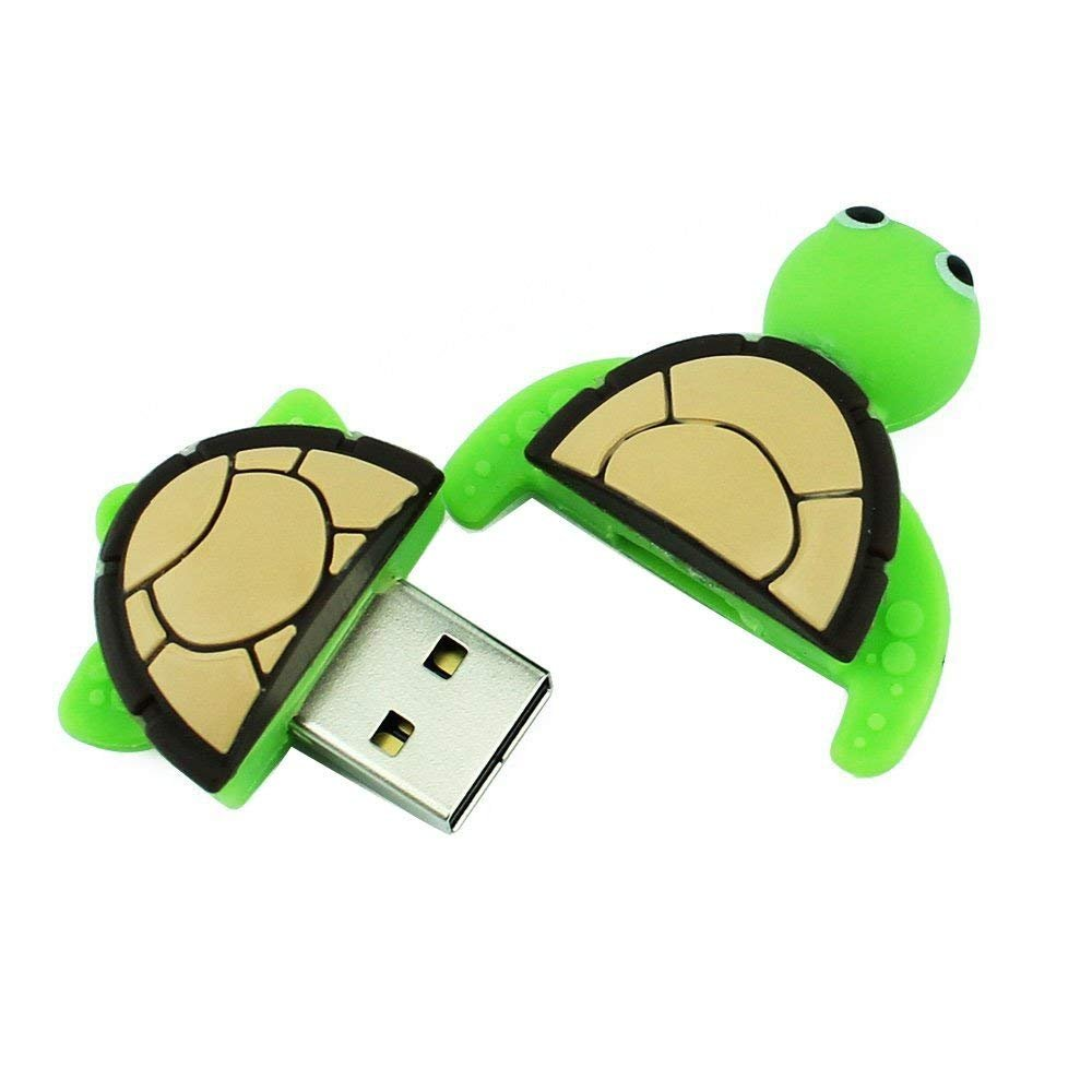 Novelty Tortoise Shape Design 16GB USB 2.0 Flash Drive Cute Memory Stick Sea Turtle Thumb Drive Data Storage Pendrive Cartoon Jump Drive Gift (tortoise-16GB) by QICAIHU (Image #5)