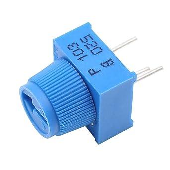 helloyee 10 K Ohm Trimpot Rotary potenciómetro para placa de circuitos con pomo para Arduino (Pack de 10): Amazon.es: Industria, empresas y ciencia