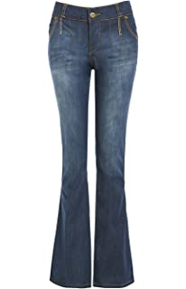 fb2a9060b5 Fuchia boutique Women's High Rise Kick Flare Jeans Ladies Bootcut ...