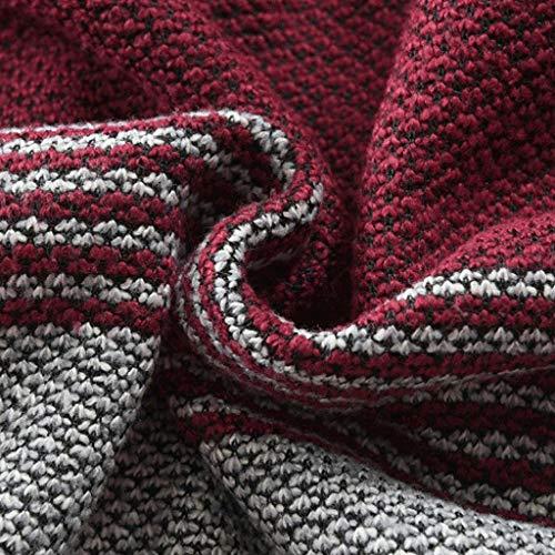 Qinsling Classico Uomo Distintivo Lunghe Cerniera Inverno Sweatshirt Collo Camicetta C Hoodie Felpa Maniche Tops Cappuccio Con Maglione Dolcevita Rosso Elegante Cappotto UqaSa