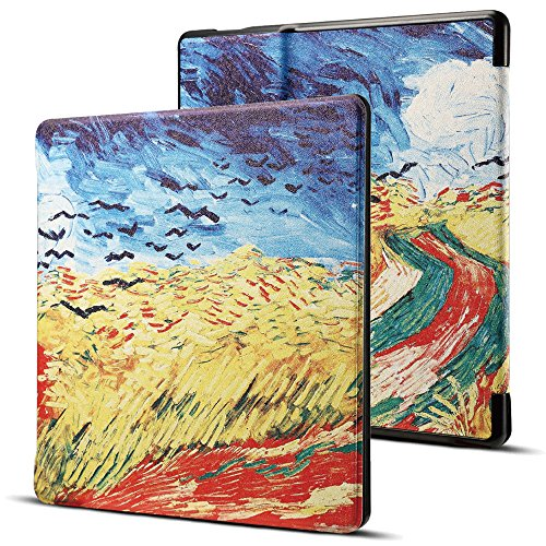 Billionn Case for Kindle Oasis (9th Gen, 2017 Release), Premium Leather Ultra Slim Shell Protective Cover with Auto Wake/Sleep for Amazon All-New 7 Inch Kindle Oasis, Countryside Oil Painting by Billionn