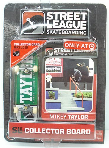 Street League Skateboarding Pro Series 1 Green Skateboard & Mikey Taylor Collector Card Target Exclusive by Ronin Syndicate