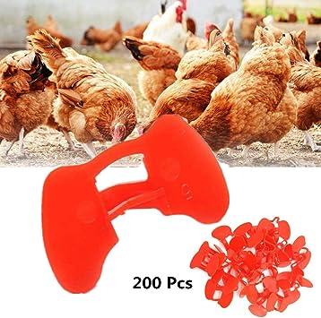 25 Chicken Eyes Glasses Livestock Avoid Hen Pecking Poultry Plastic