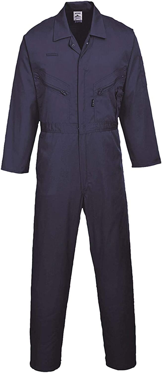 L PORTWEST C813 Liverpool zip front work coverall overall Boiler Suit New