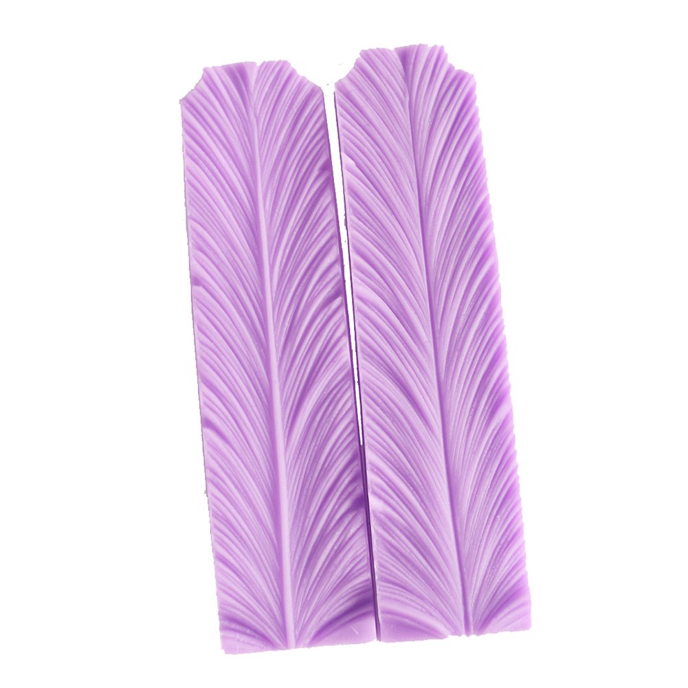 Feathers Veiner Cake Fondant Mold Cake Toppers Cake Decorating Chocolate Mold For Sugar Craft Gum Paste by SK (Image #3)