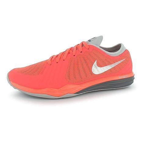Nike Dual Fusion Zapatillas de running para mujer mango/Platinum Fitness zapatillas zapatillas, Mango