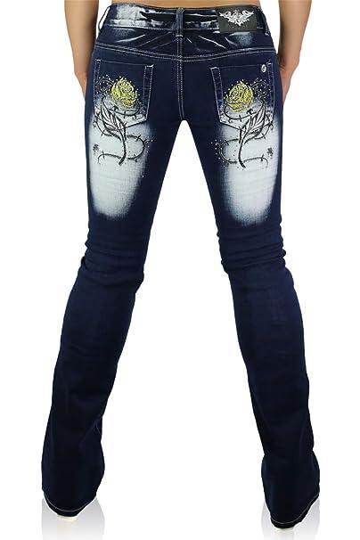 Crazy Age - Vaqueros - Pantalones Boot Cut - para Mujer Navy ...