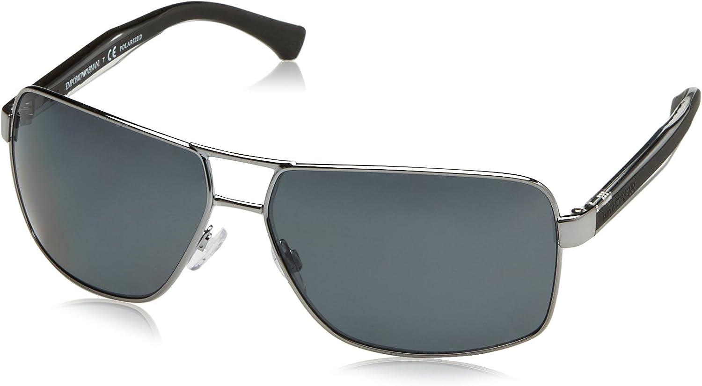 Emporio Armani EA2001 Gafas de sol, Gunmetal 301081, 64 Unisex-Adulto