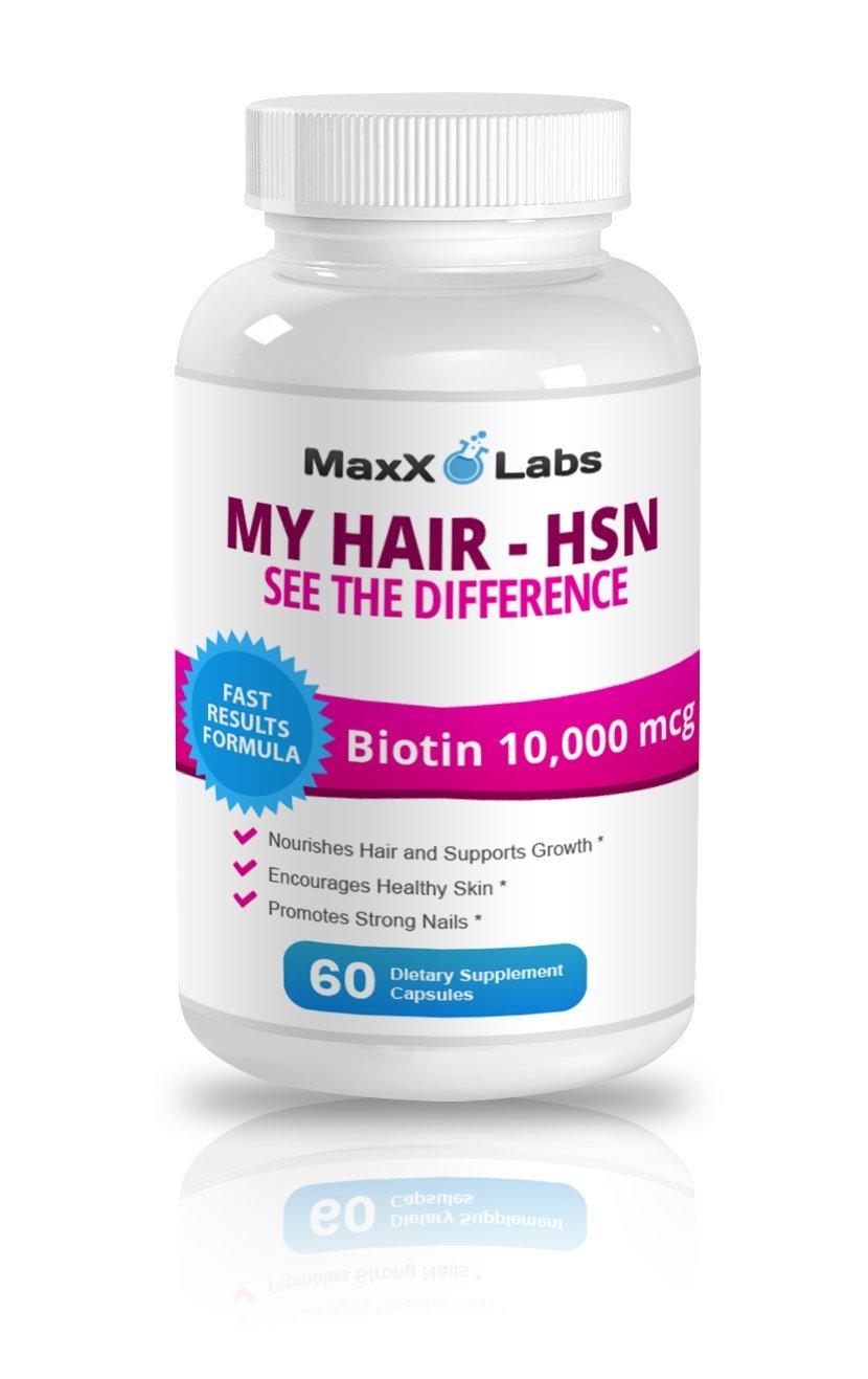 Hair Skin and Nails Vitamins (HSN) ★ Best Biotin for Hair Growth ★ Potent  Biotin 10,000mcg Formula - It Works Nourishing Your Skin & Growing