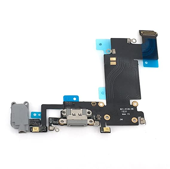 purchase cheap c3503 8ad24 E-repair Charging Port Headphone Jack Flex Cable Replacement for Iphone 6S  Plus (5.5'') - Grey