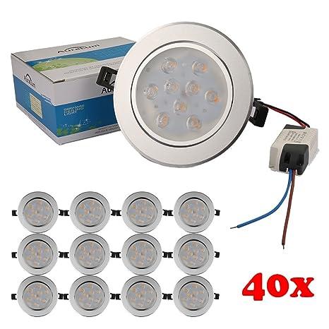 40X Focos de techo empotrables,Auralum® Set LED Focos de techo empotrables 9W=