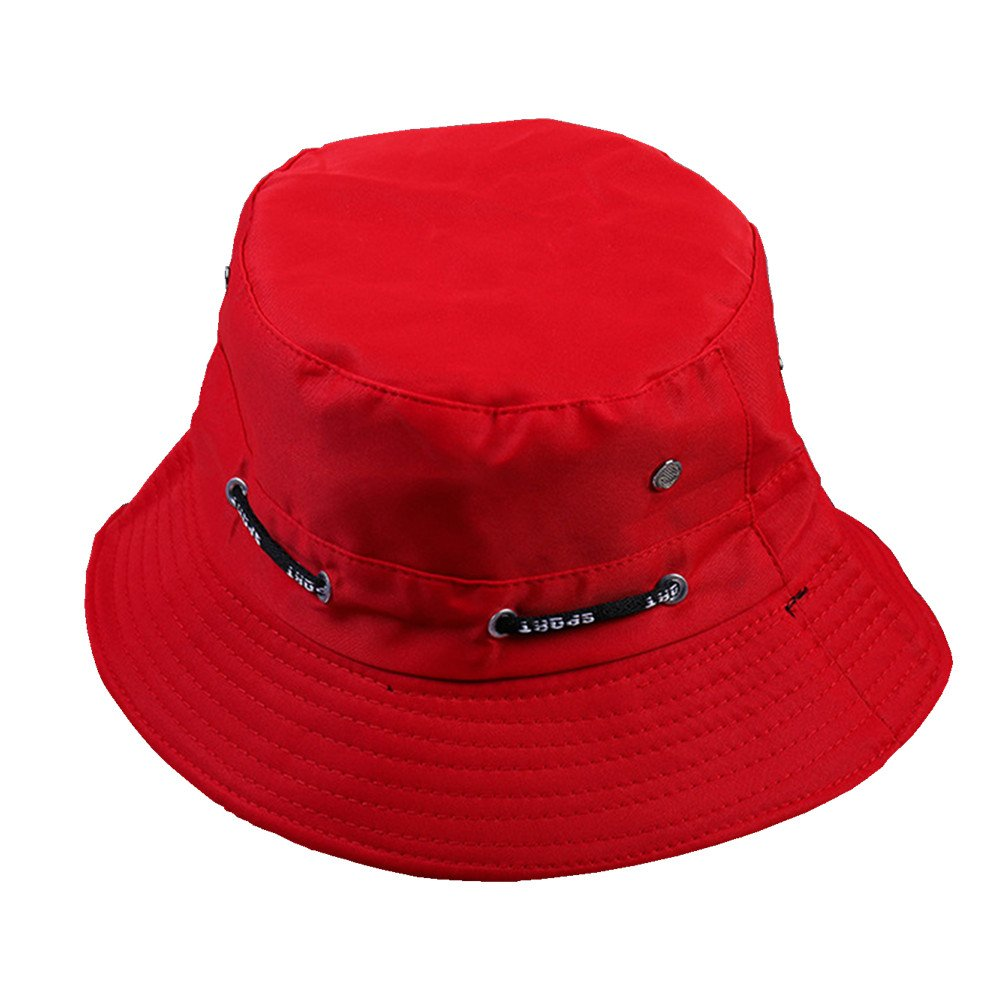 RUOYUCL Men& Women Cotton Fishing Hunting Travel Cap Summer Bucket Hat RUO5436