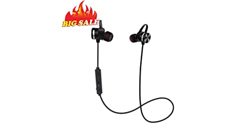 Stereo Wireless Magnetic IPX6 Sweatproof in-Ear Headphones only $7.99