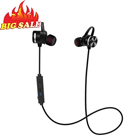 f14a0e972ea Amazon.com: Sport Bluetooth Earphones, Stereo Wireless Magnetic IPX6  Sweatproof in-Ear Earbud Headphones for Running with Mic, CVC 6.0 Noise  Cancelling, ...