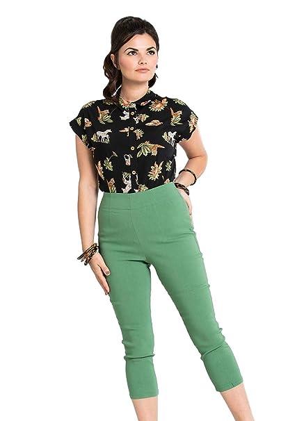 best website a5494 009c7 Pantaloni Capri 3/4 di Hell Bunny Tina in Stile Retro ...