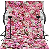 Kooer 6x9ft Roses Photography Backdrops Vinyl Fabric Cloth Lightweight Fresh Flower Backdrop